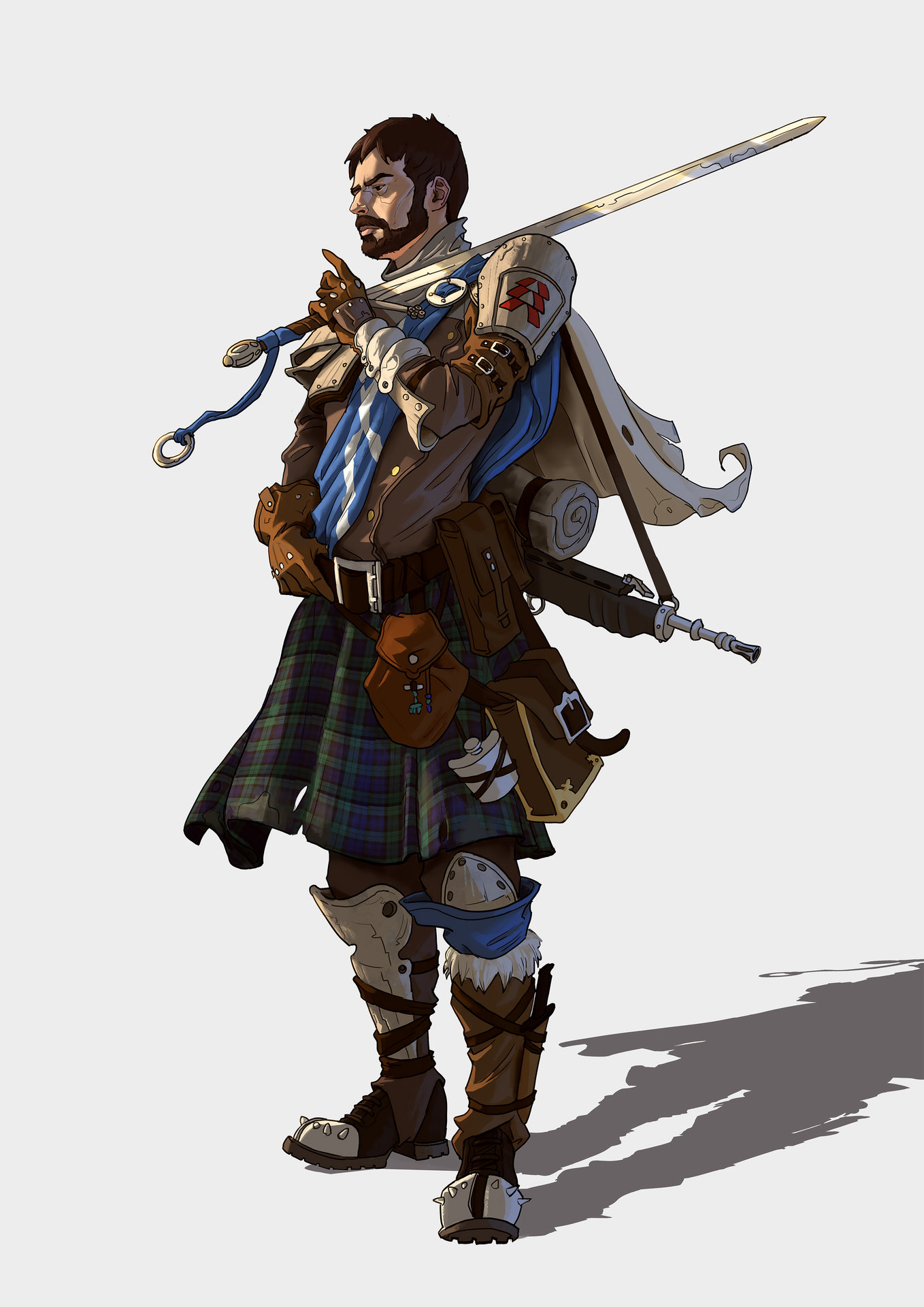 ArtStation - Daniel the post-apocalyptic Highlander