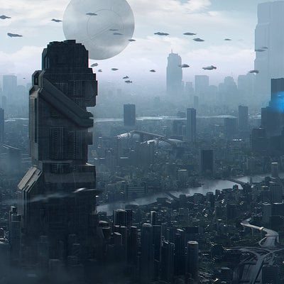 Lucas orstrom sci fi city01