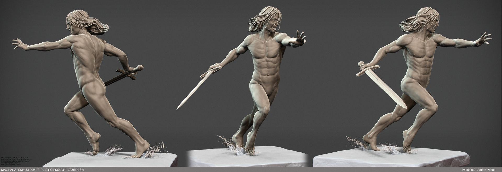 ArtStation - WIP - Male Anatomy Study - Base Forms / Details ...