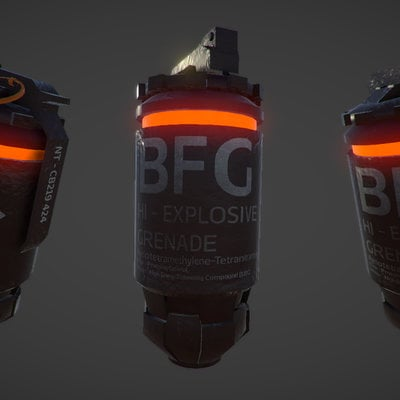 Low Poly Grenade