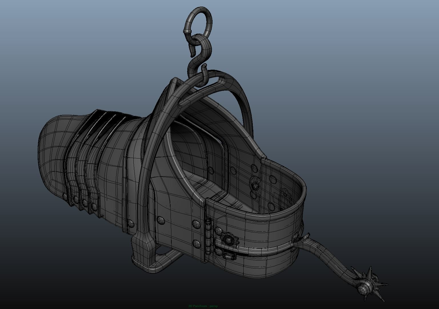 Modeling the shoe/ wireframe