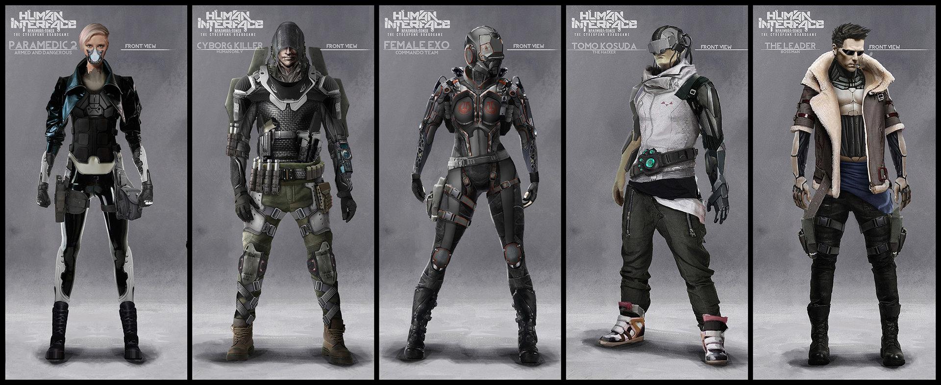 ArtStation - Human Interface - Character concept art, Darius ...