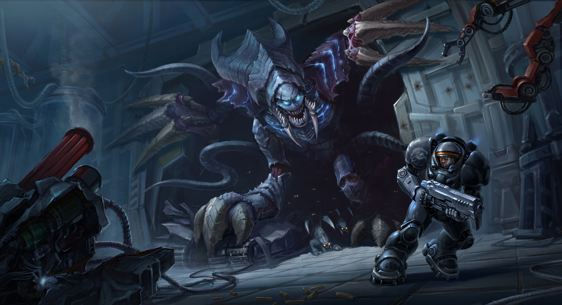 Heroes of the storm build concept amon heroesfire - Starcraft 2 wallpaper art ...