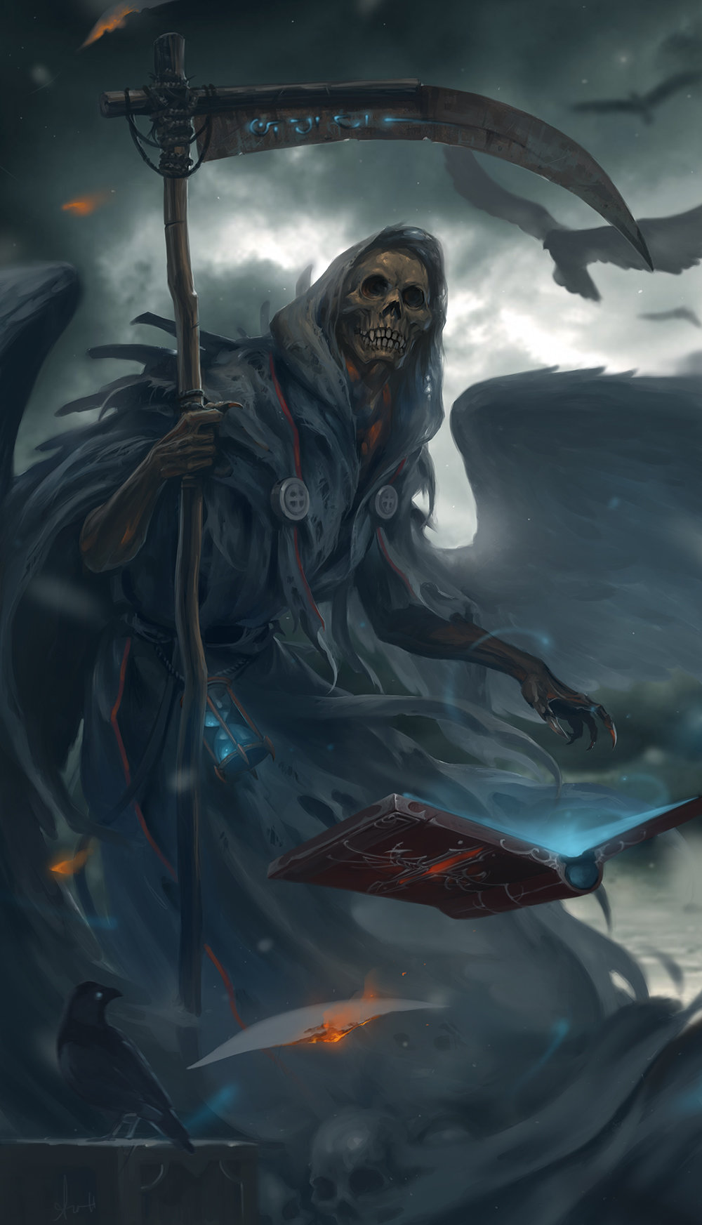 Image result for grim reaper art