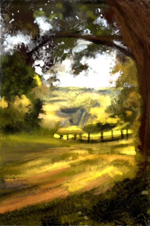 Victor baeza paisaje rural estudio
