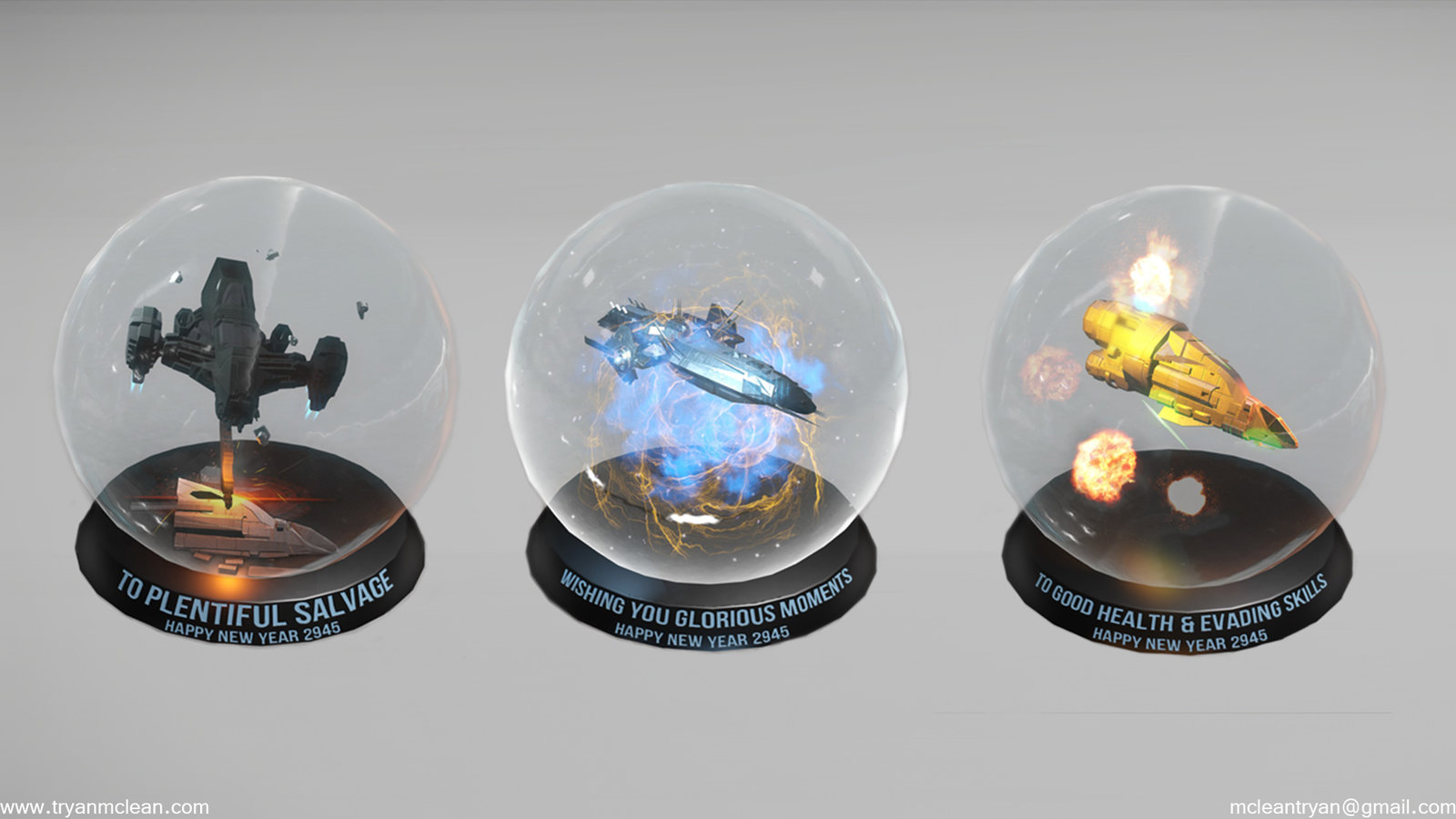 Star Citizen Year End Space Globe. Subscriber Flair.  Modelling by myself from 3D Concept. VFX done at CIG Austin.