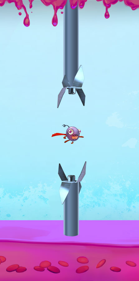 Sample of each level in-game on a mobile screen.