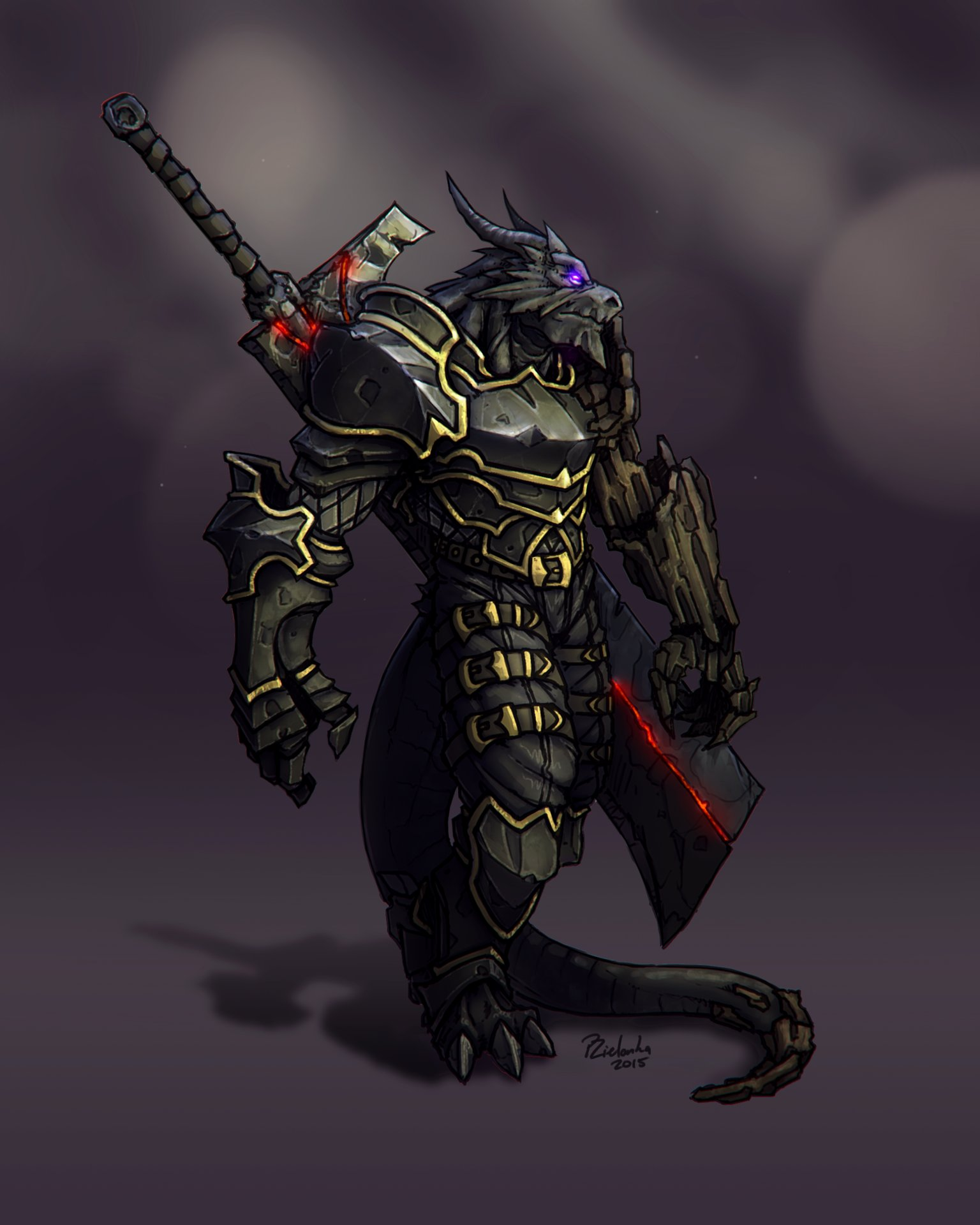 Image result for black dragonborn fighter