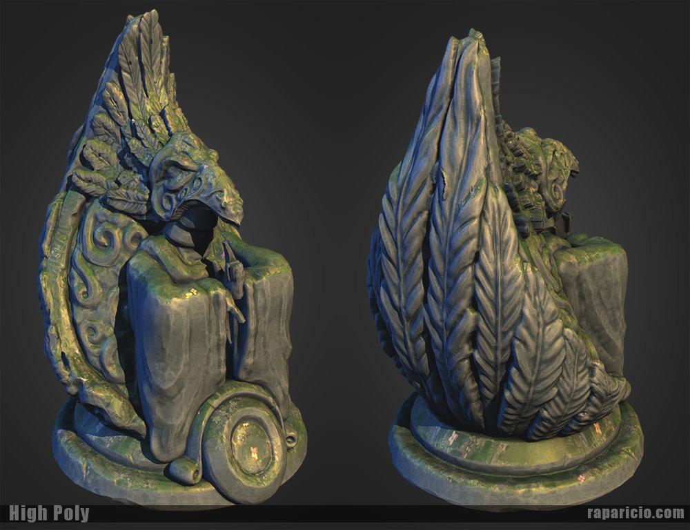 Raul aparicio incan fantasy statue