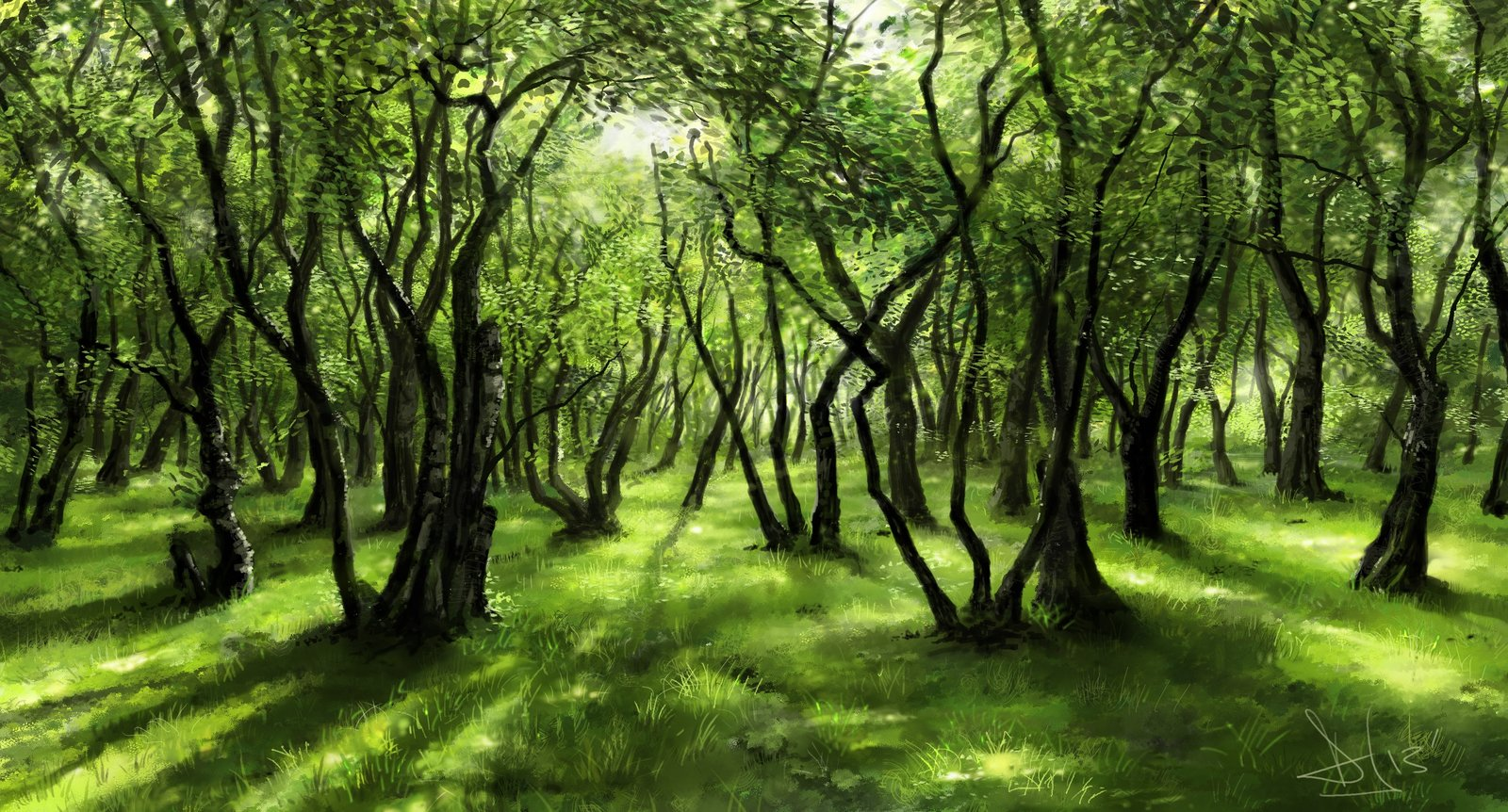Green forest study (2)