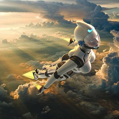 Derek pendleton gynoid in flight