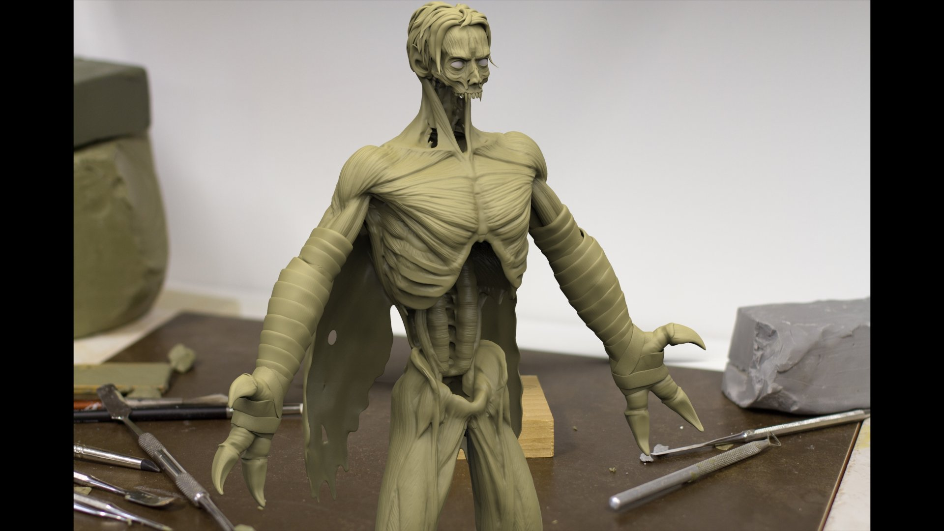 Derek pendleton raziel clay render