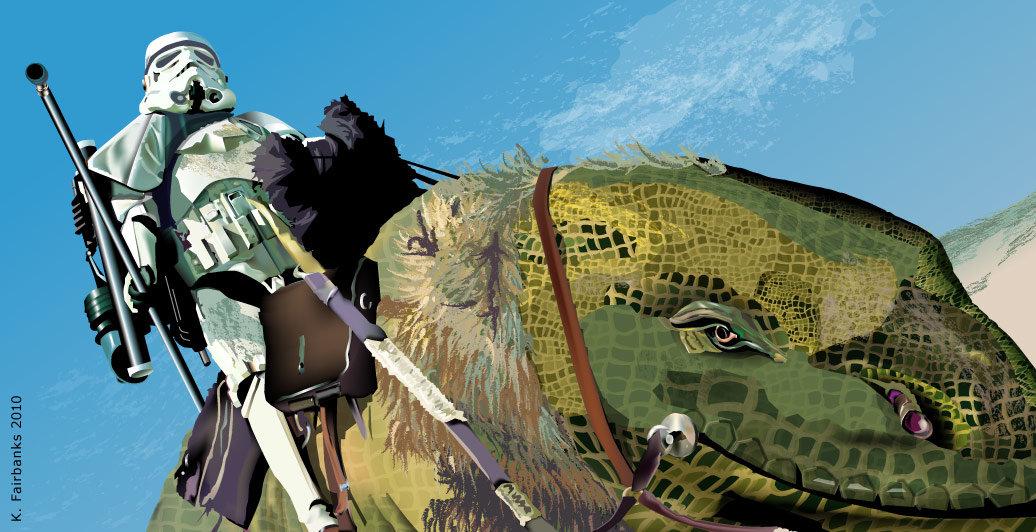 K fairbanks stormtrooperdewback by k fairbanks
