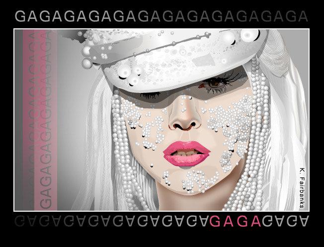 Digital drawing of singer Lady Gaga