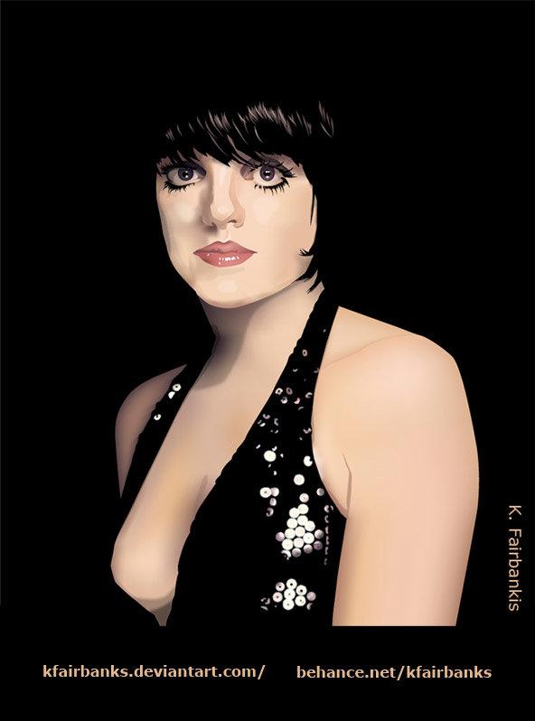 Liza Minnelli (vector drawing) by K. Fairbanks