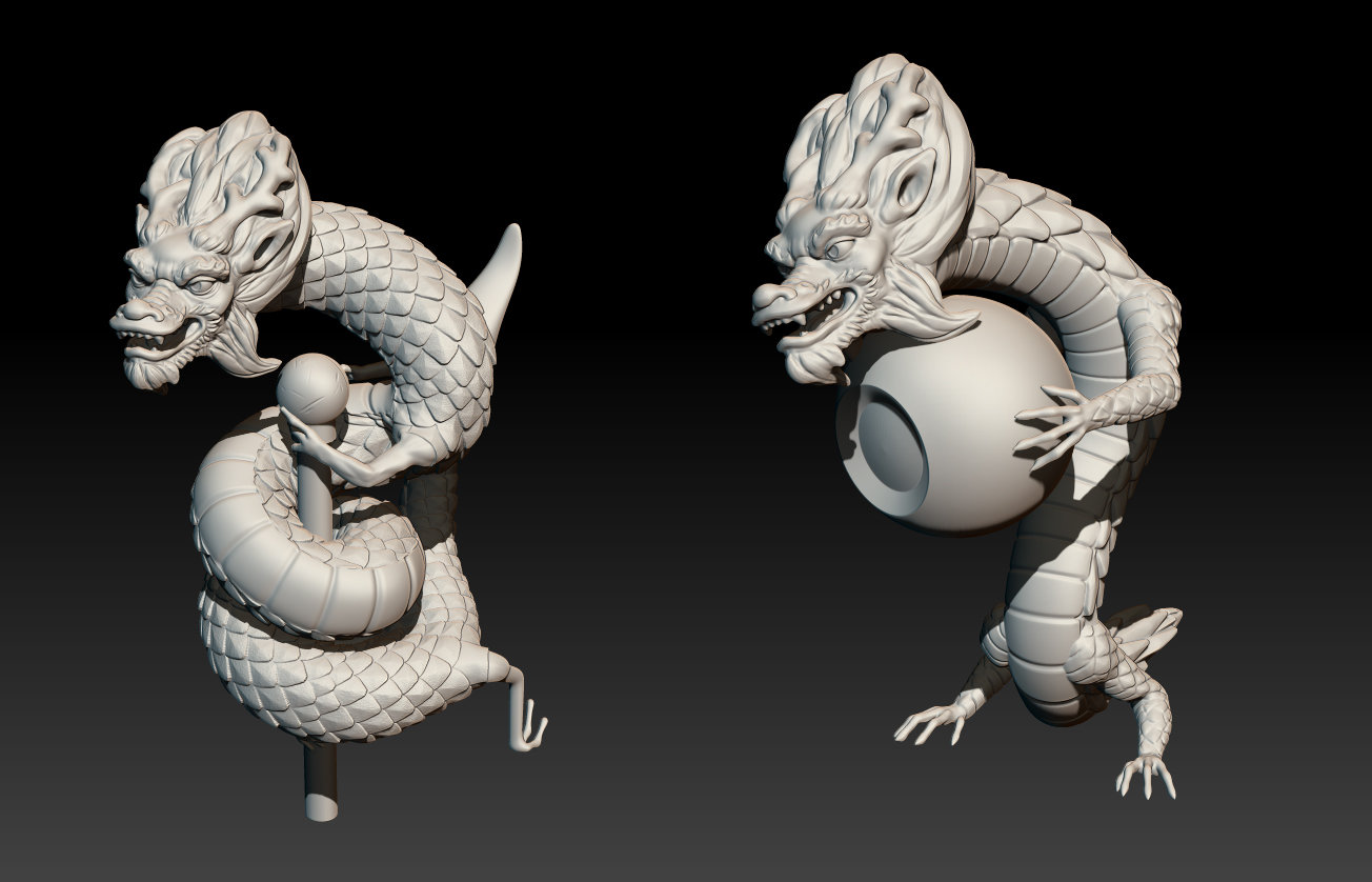 zbrush screencaps of 2 different ideas.