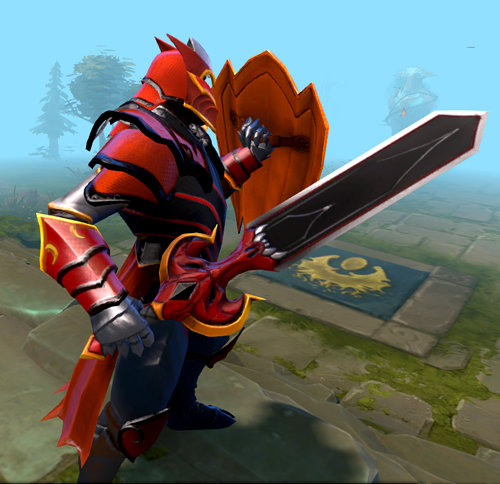 Dragon Knight sword for Dota 2