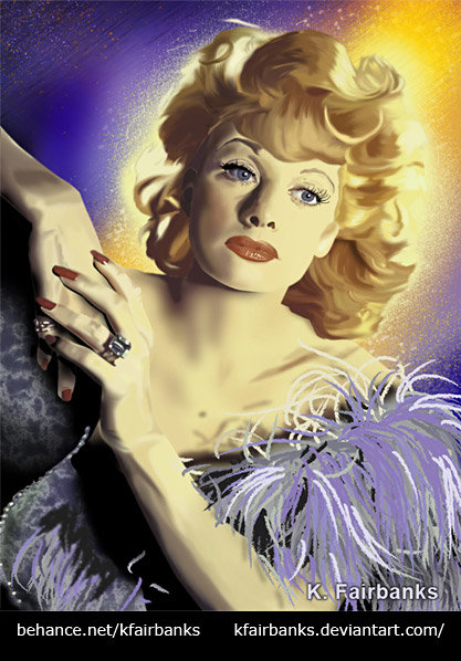 K fairbanks lucille ball by k fairbanks