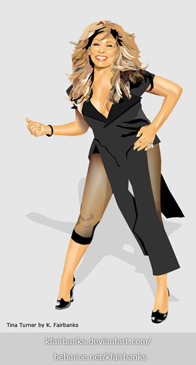 Tina Turner (vector drawing) by K. Fairbanks