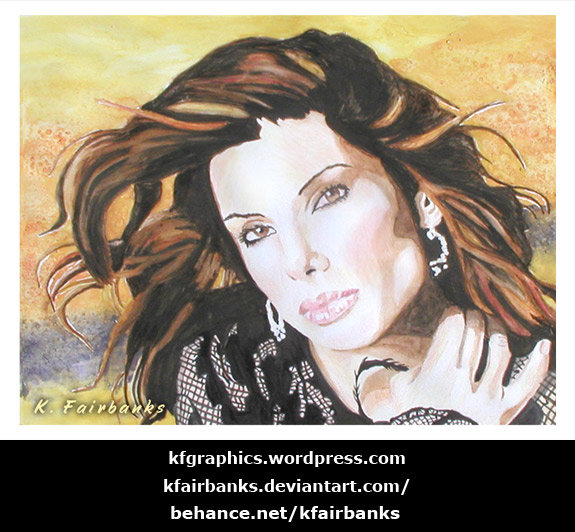 Sandra Bullock (painting) by K. Fairbanks
