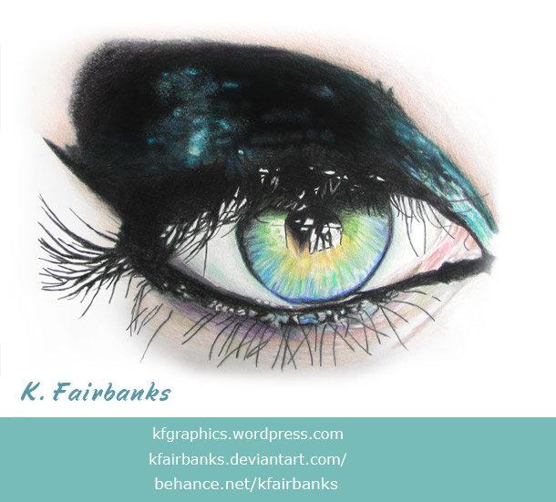Eye (pencil drawing) by K. Fairbanks