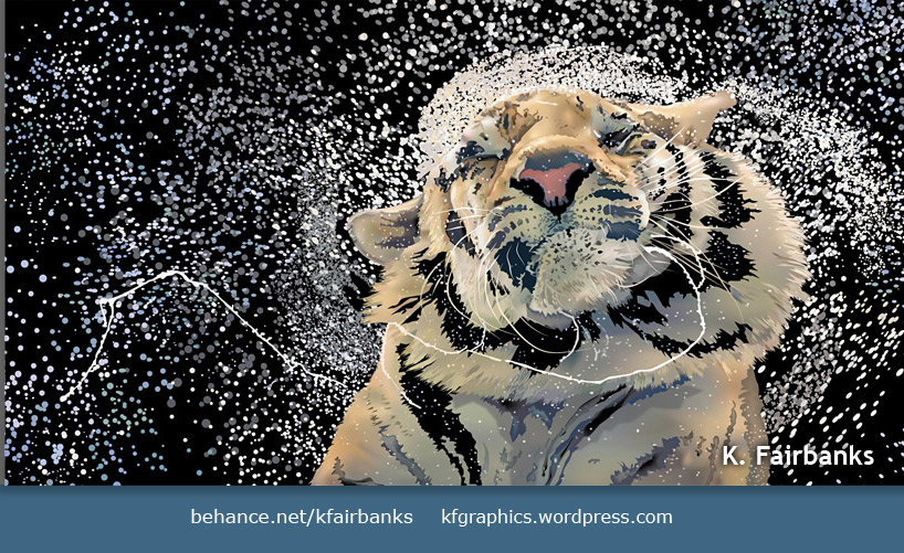 Vector drawing of a Tiger by K. Fairbanks