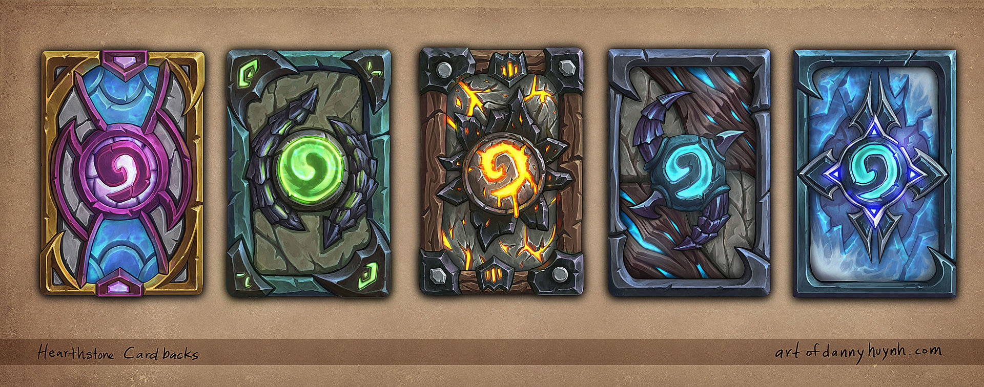 Some cardback designs for different themes. Check out the gif here. http://imgur.com/CgeLdPP