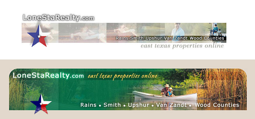 Web page banners created for client. Media: Photoshop. Star in both: Flash (animated; screen capture does not convey motion)