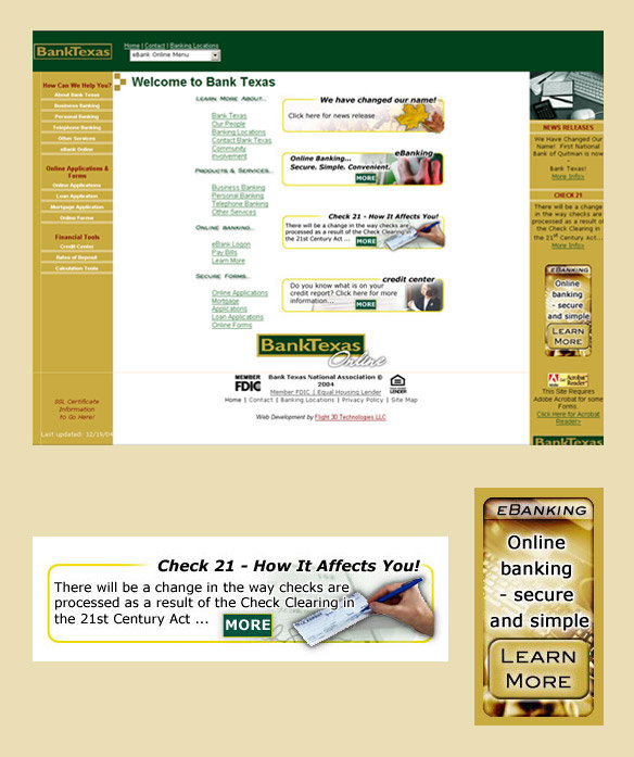 Screen capture: Various Graphics created for client web site by K. Fairbanks.
