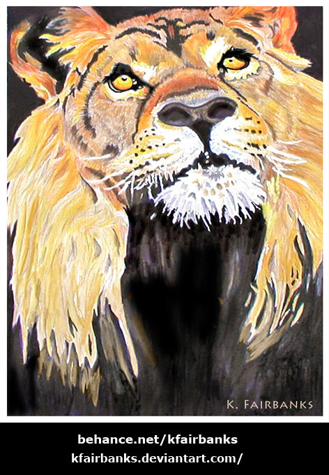 Lion (painting) by K. Fairbanks