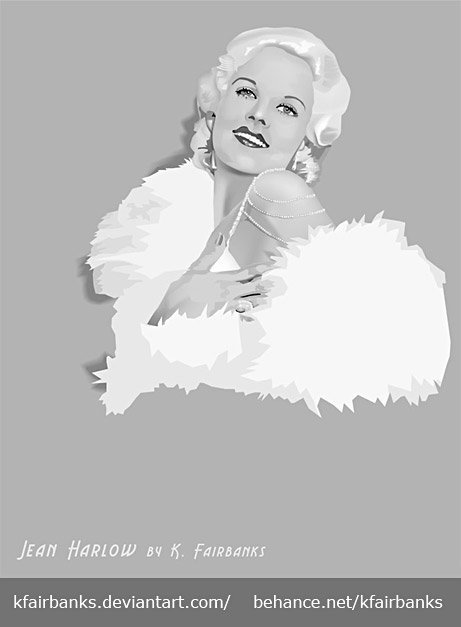 Jean Harlow (vector drawing) by K. Fairbanks
