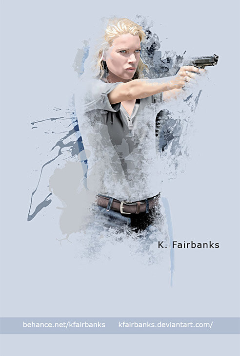 Laurie Holden as Andrea. Digital painting by K. Fairbanks