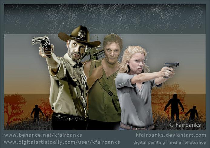 Walking Dead digital painting by K. Fairbanks