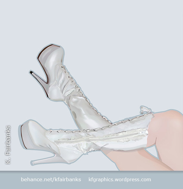Boots (vector drawing) by K. Fairbanks