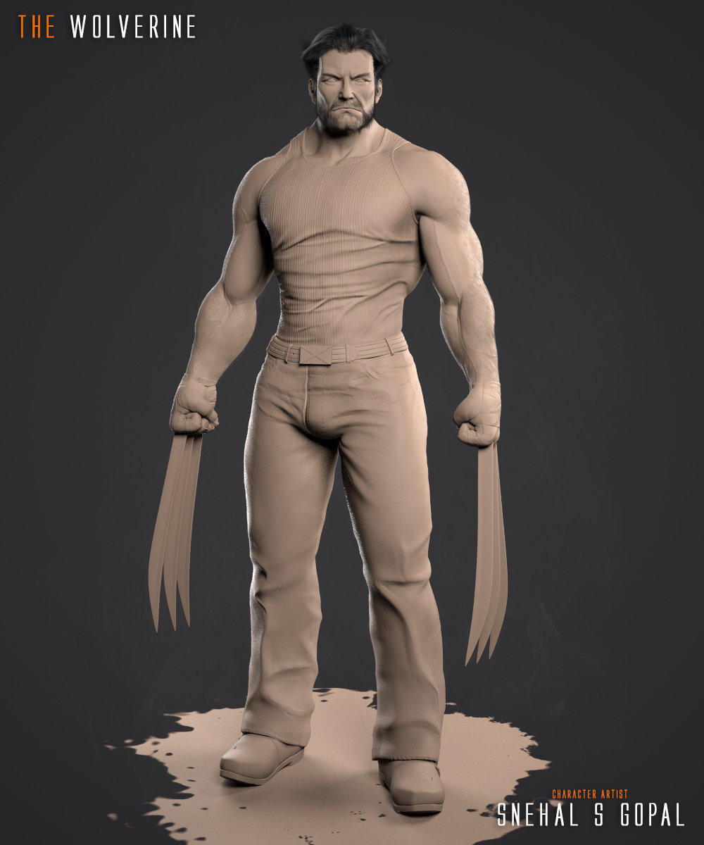 Snehal s gopal wolverine front clay