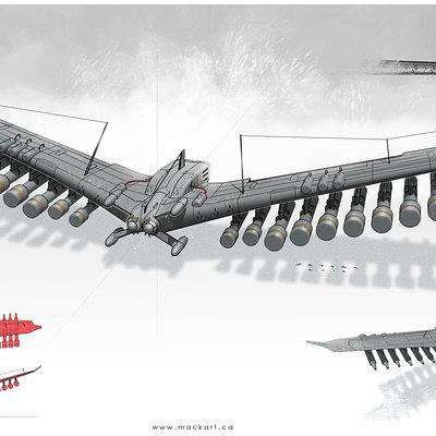 Mack sztaba grzmot wing bomber