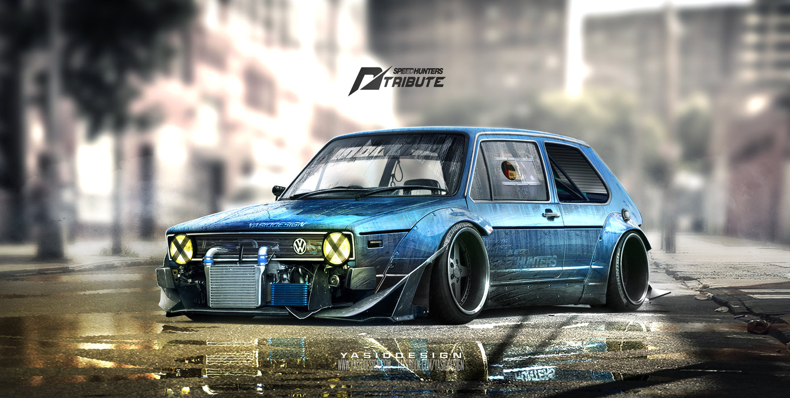 Speedhunters Golf MK1  - need for speed tribute