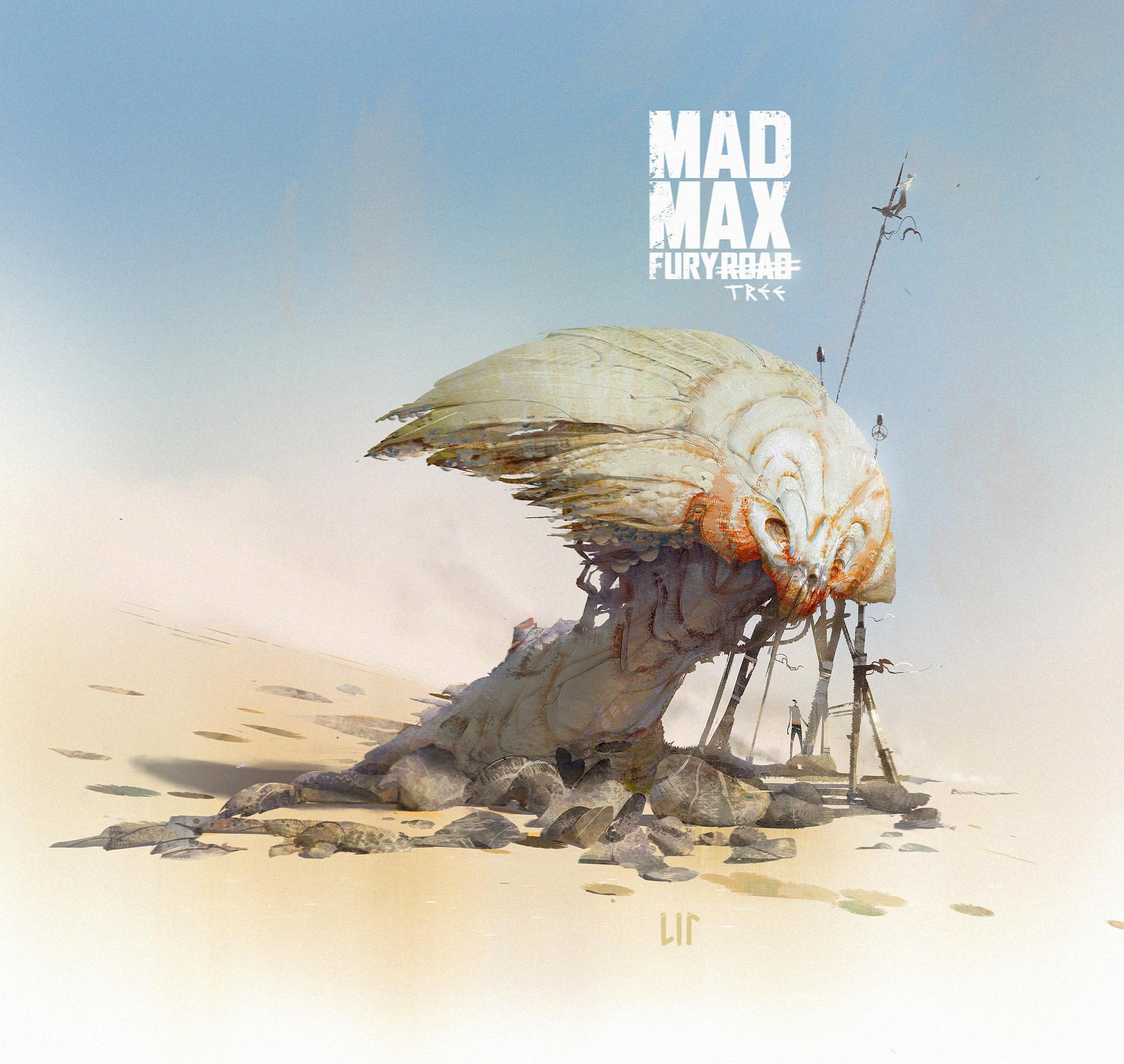 Mad Max Fury Road  man villain as a tree design