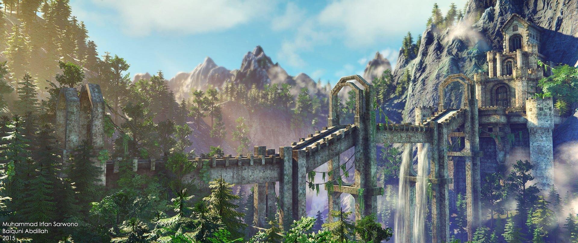 Artstation Fantasy Castle Cryengine Baiquni Abdillah