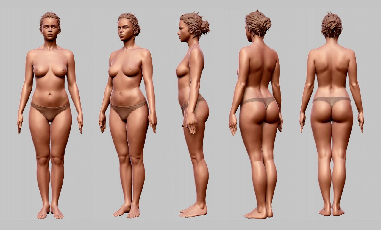 Ilya Berezin Female Anatomy Study