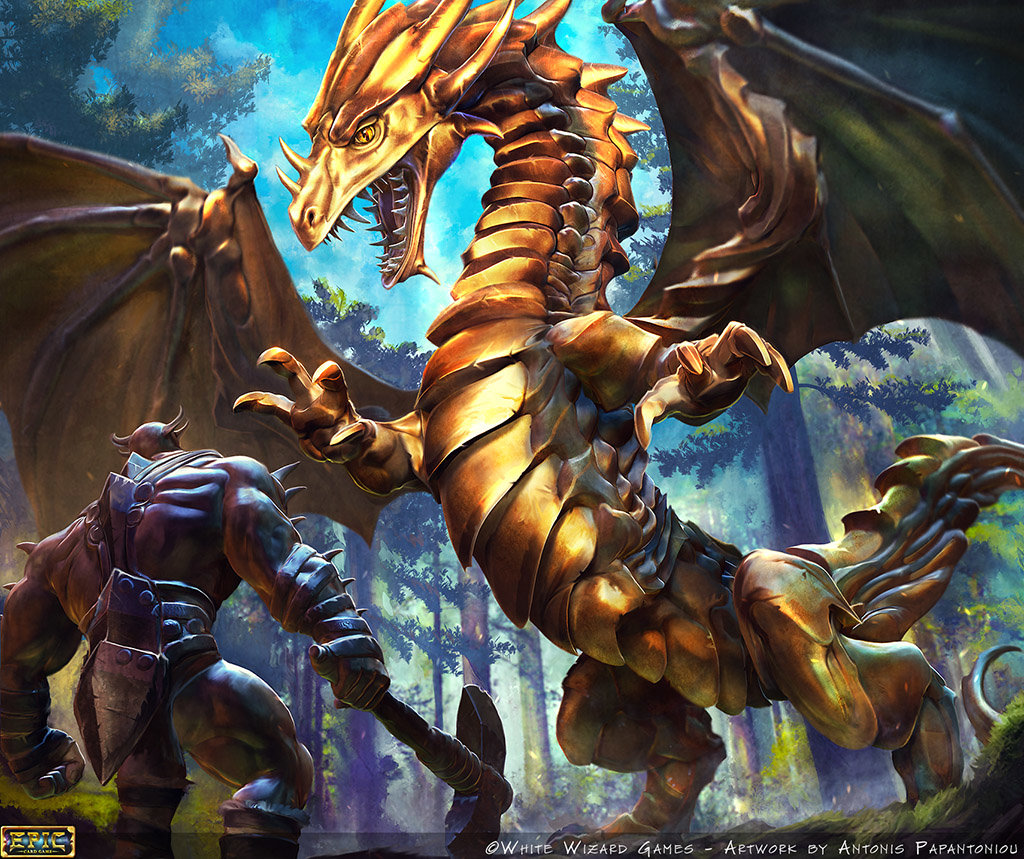 Golden Dragon card artwork