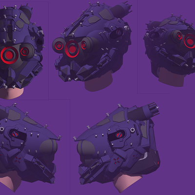 Cristian bruno scifi helmet 3d