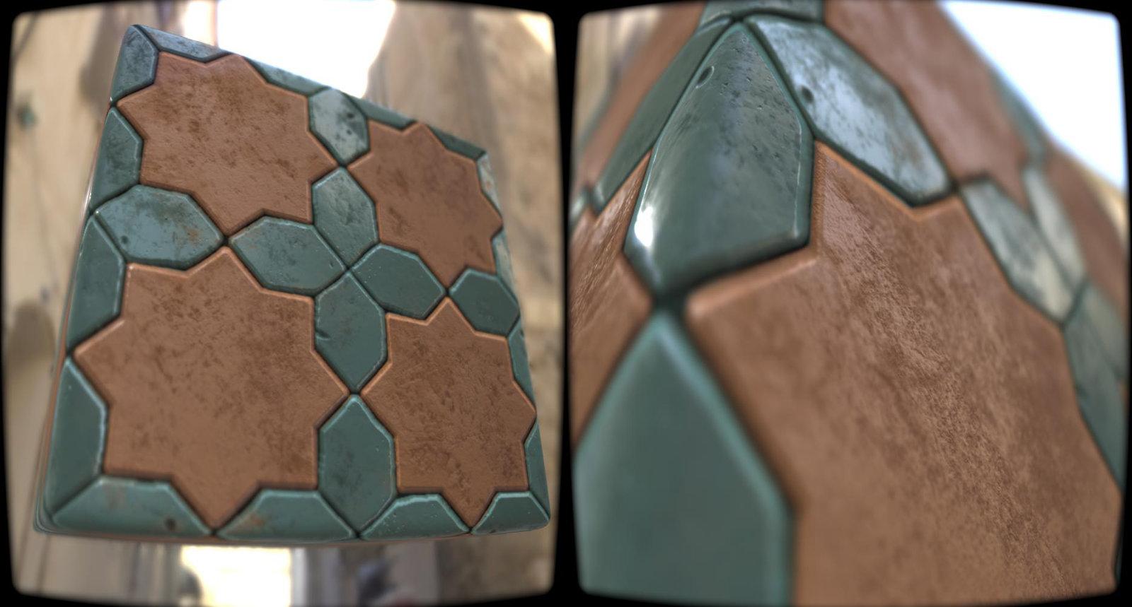 Oriental Bricks Pattern