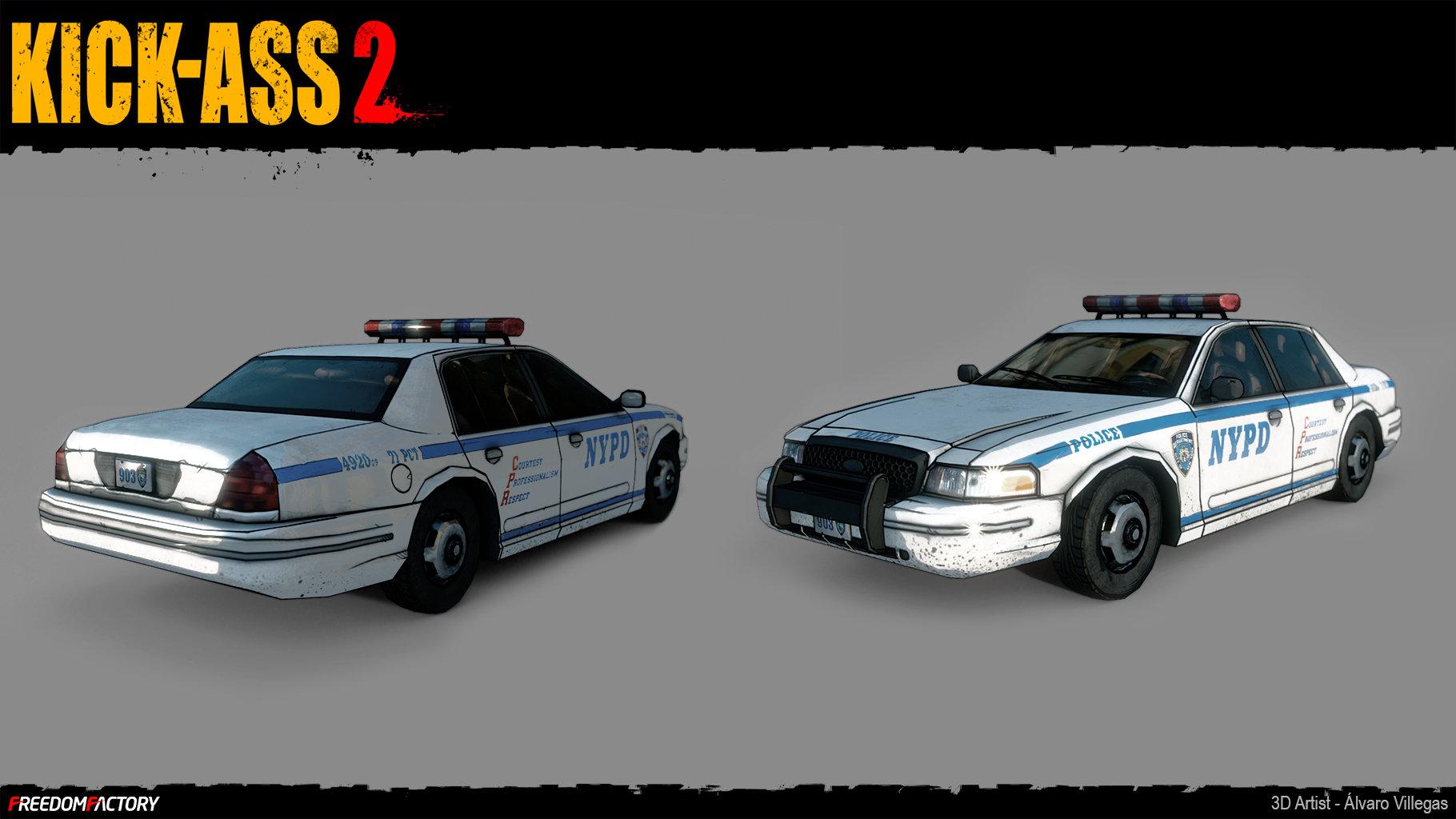 ArtStation - Kick-Ass 2: Police car, Alvaro Villegas