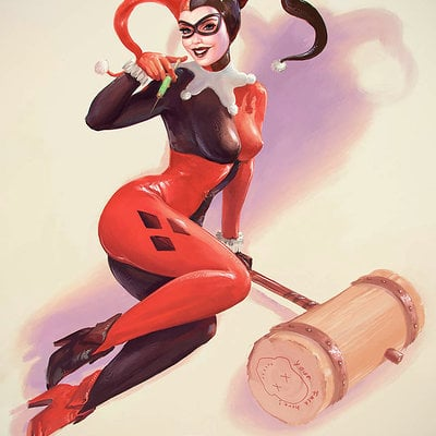Harley Quinn - Life is A Party - Elvgren Tribute