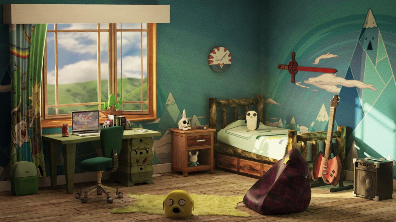 . ArtStation   Adventure Time Themed Bedroom  Frank Latter