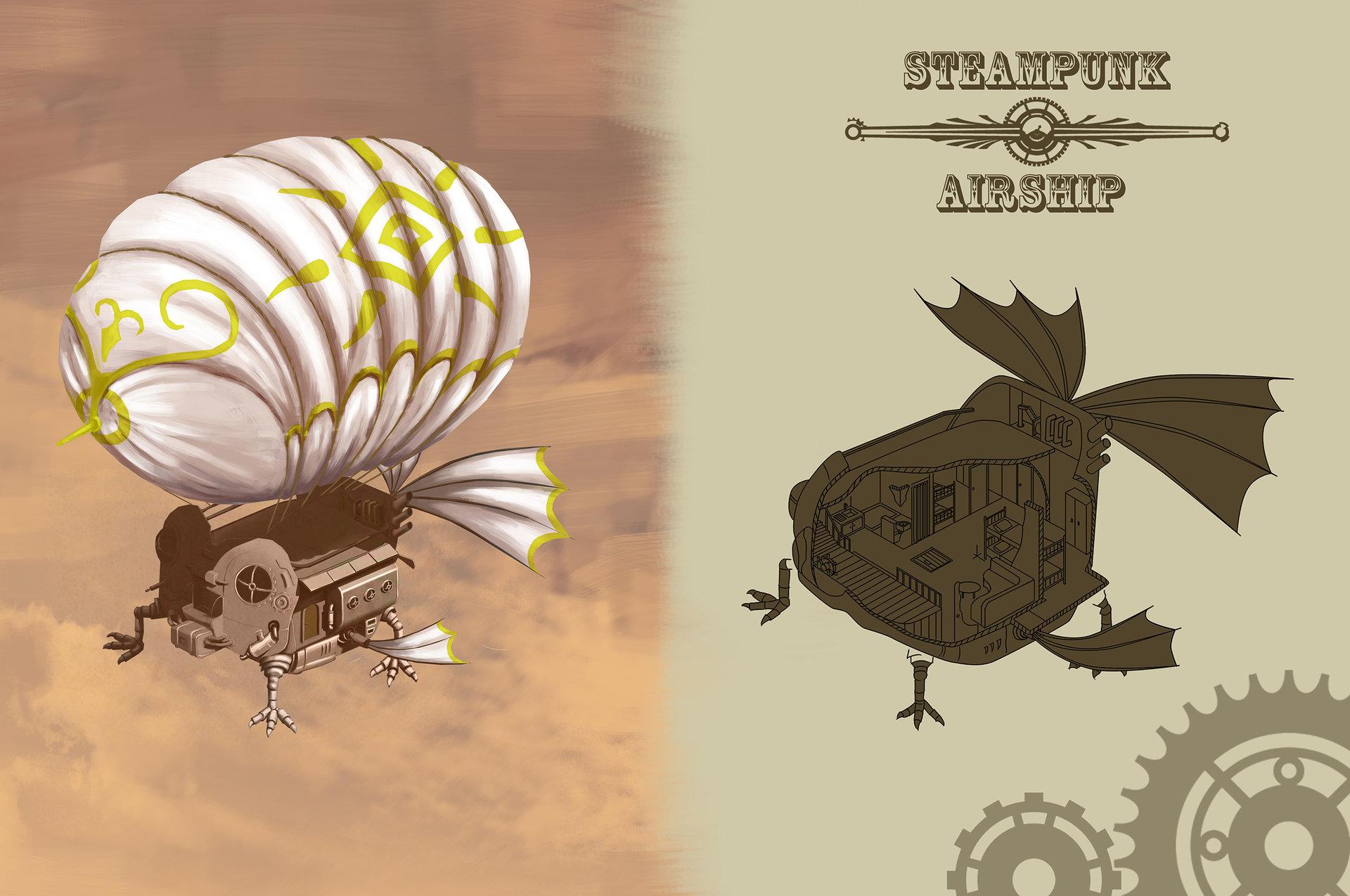 Concept Art Airship Steampunk