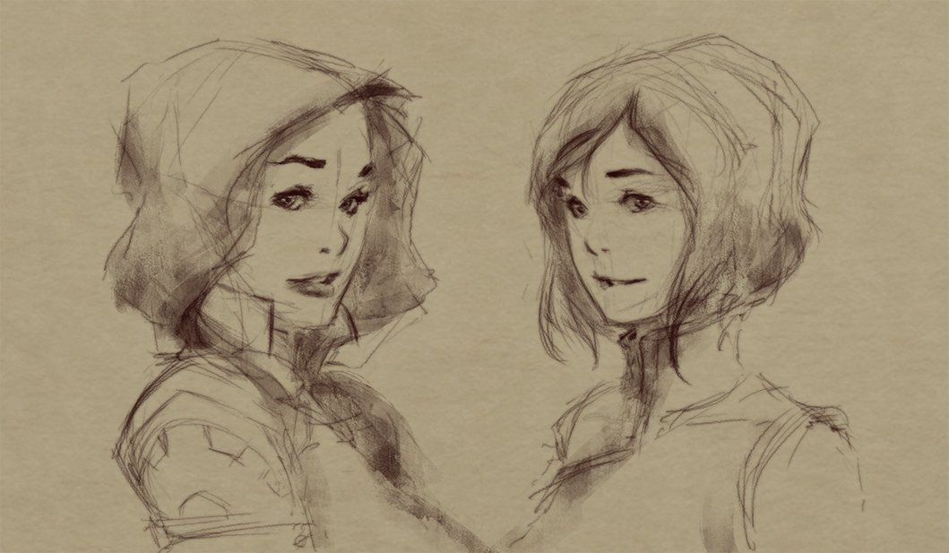 drawing Korra and Asami. I hope you like it! n__n