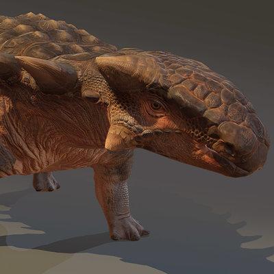 Catherine rokitka ankylosaurportrait