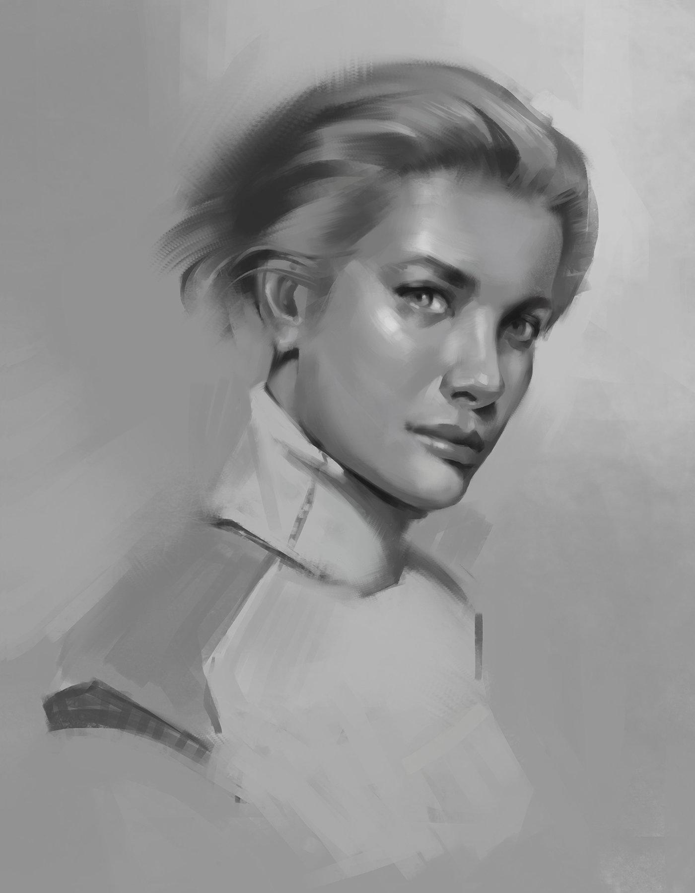 Jad saber woman sci fi portrait